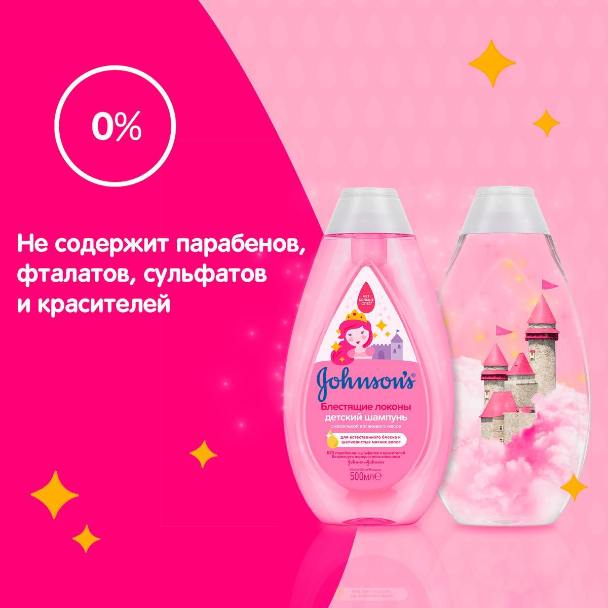JOHNSON'S® Детский шампунь для волос «Блестящие локоны»