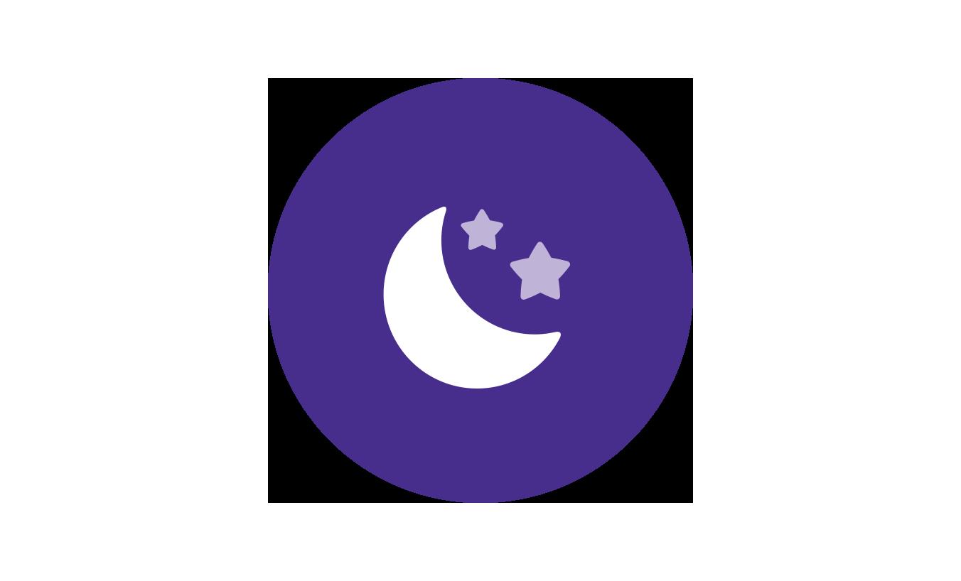 комплекс перед сном Johnson's®: изображение луны для обозначения спокойного времени